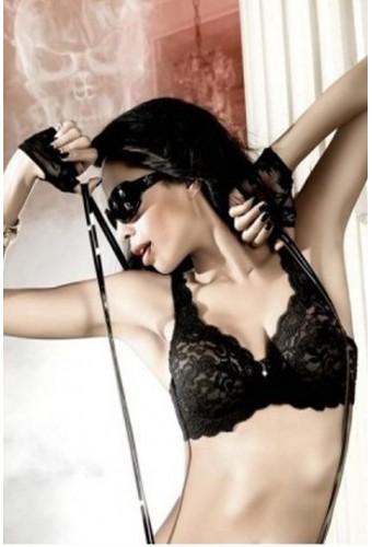 Soutien-gorge glamour en dentelle noire