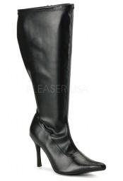 Bottes noires spéciales mollet large lust-2000x