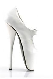 Escarpins blancs à lanière talon extrême ballet-08