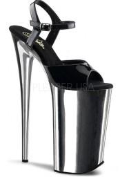 Sandale noire vernie et chrome talon haut beyond-009