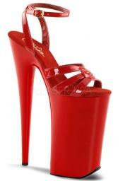Sandale à lanières rouges vernies beyond-012