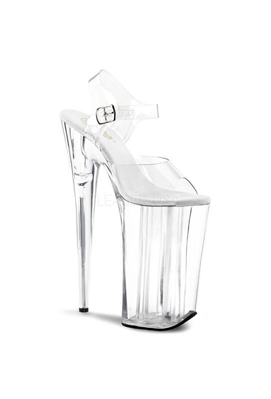Sandales transparentes talon plateforme beyond-008