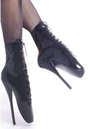 Bottines noires vernis talon extrême ballet-1020