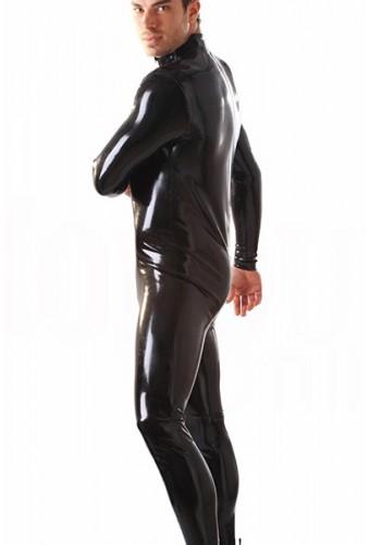 Combinaison homme en latex noir