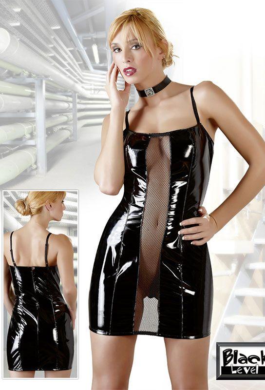 Robe semi-transparente noire