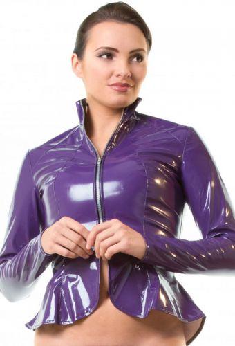 Blouson vinyle violet