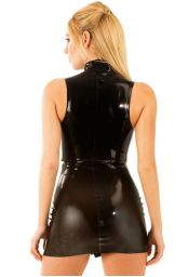 Robe courte en latex