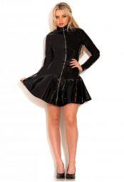 Robe zippée vinyle noir
