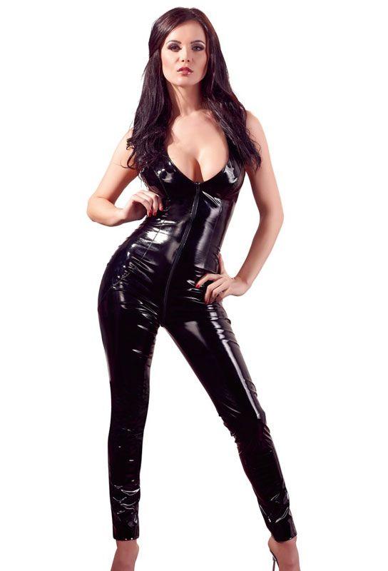 Catsuit noire sans manches
