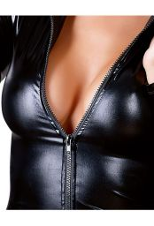 Mini robe noire à zip intégral