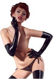 Long gants noir en latex
