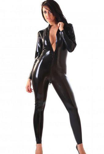 Catsuit en latex noir grande taille