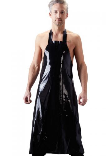 Tablier en latex noir