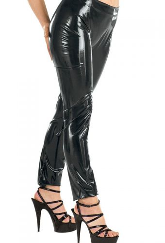 Legging moulant latex noir