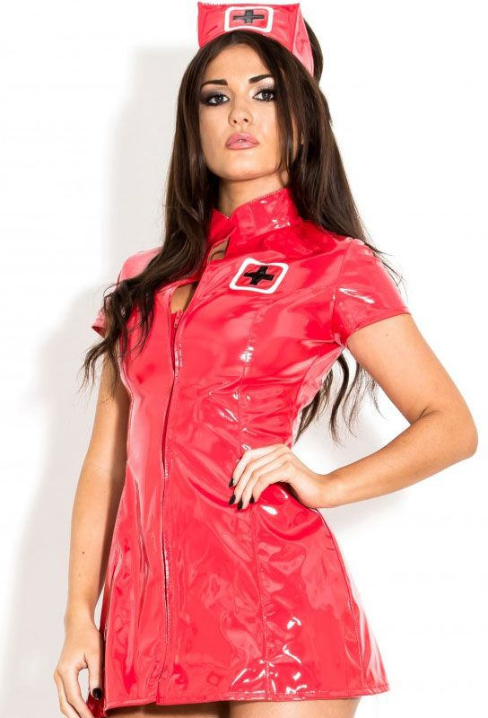 infirmière robe rouge