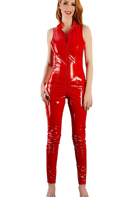 Combinaison vinyle rouge