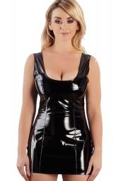 Mini-robe noire en vynile