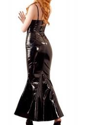 Robe longue vinyle noir