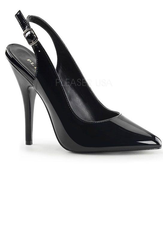 Escarpin sexy noir vernis talon aiguille seduce-317