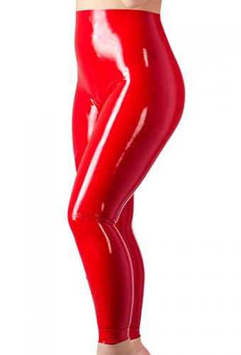 Leggings latex rouge