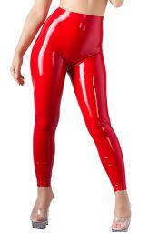 Leggings latex rouge