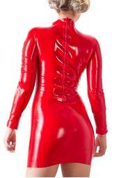 Robe latex rouge