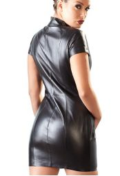 Robe Dominatrice cuir noir