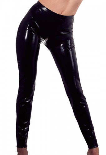 Leggings en latex noir