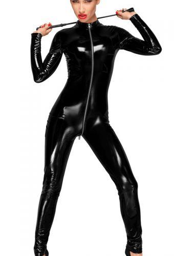Jumpsuit vinyle noir