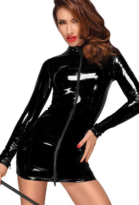 Micro robe vinyle noir