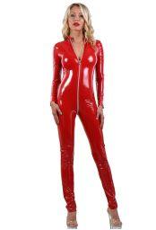 Catsuit vinyle rouge