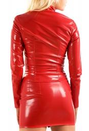 Mini-jupe en vinyle rouge